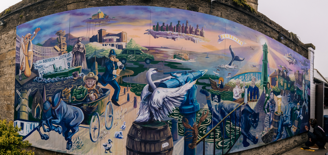Renowned Street Artist Unveils Mural Celebrating The City's Most Diverse Area, Leith